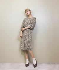 Nice mrs.club brown rétro dress-1111-5