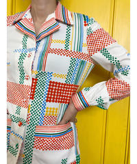 Rétro pop design open collar shirt jacket-2020-7