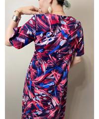 cocoalulu paint design flare dress-1992-6