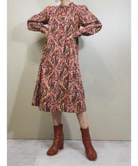 Mellow paisley pattern rétro dress-1681-2