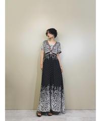 Monotone bonbon tassel design maxi dress-1205-6