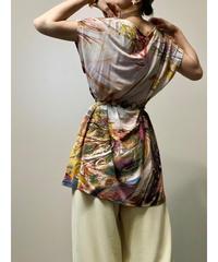 FORTE artistic design warm color tunic-2040-7
