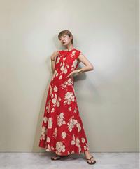 RAOUL stand collar flower design dress-1224-6