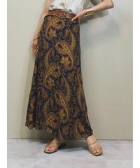 Flap paisley pattern vintage skirt-1228-6