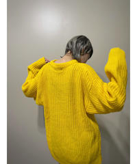 X tatic yellow color over size  import knit-2177-9