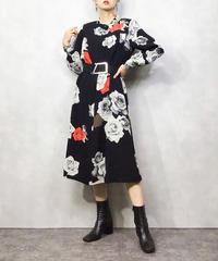 Cool rose black rétro dress-1062-4