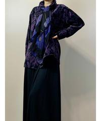 CROSSROADS purple paisley scarf set shirt-2219-10
