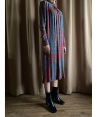 Ethnic design cross stand collar  import dress-2089-7