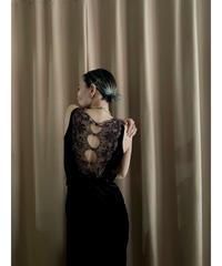 FAVLANA made in u.s.a. brown velour long dress-2232-10