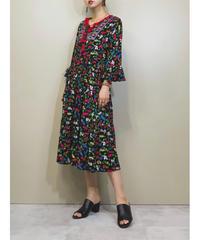 Embroidery colorful bon bon dress-1229-6