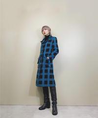 Bruesie plaid rétro tailored coat-1647-2