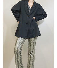 Studs collar design over size  black jacket-1739-3