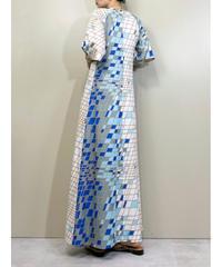 Belami square tile design maxi dress-1894-5
