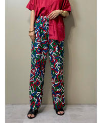 Retro modern design import wide pants-2044-7