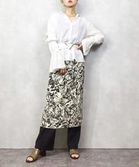 Marble pattern monotone skirt-1065-4