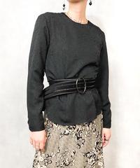 VALENZA  PO rose emboss design shirt-730-11