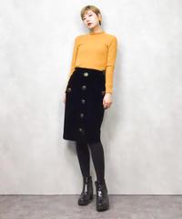 RIVE LIBRE black velor skirt-848-1