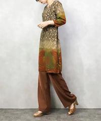 Exotic individuality side slit tunic-1077-4