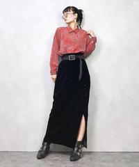 GEFION red pattern shirt-698-11