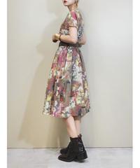 artistic color  volume gather rétro dress-1877-5