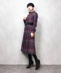 CITY BY MINORI purple pleats dress-796-12