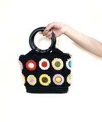 Circle handle crochet hand bag-1933-6