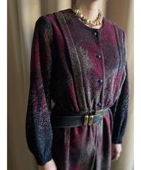 J.HASKIN warm color rétro dress-2249-10
