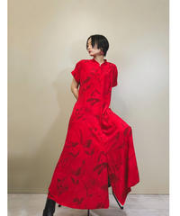 Coldater Creek vivid red maxi dress-1169-6