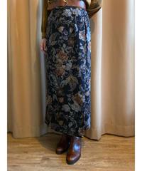 REQUREMENTS vintage flower long skirt-2226-10