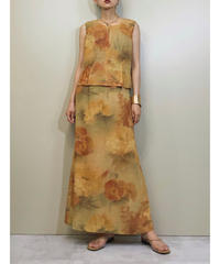 AND SO flower design vintage set up dress-1166-6