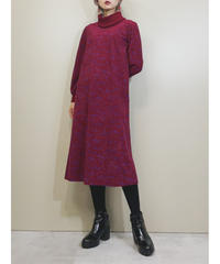 Christian Ada wine-red dress-1636-1