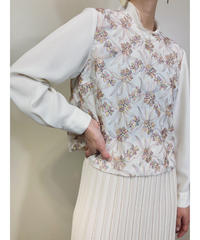 A-DOLL KOBE floral embroidery tops-1796-4