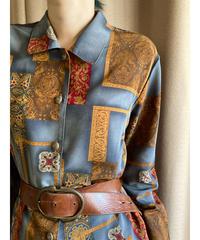 antique  design  gray color shirt-2176-9
