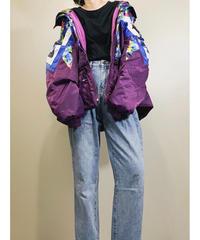 LANBOLEY oversize purple nylon jacket-1625-1