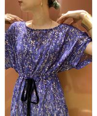 IRONICO gold dot pattern purple sheer tunic-2019-7