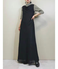 Drape design glitter black maxi dress-1779-3