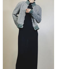 Nordic design metal button knit cardigan-1569-12