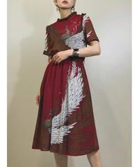 ST.HONORE phoenix dark red dress-1280-7
