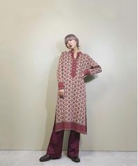 NEWCASTLE nordic pattern import knit dress-1622-1