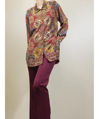 Mode RIE paisley pattern rétro shirt-1468-10