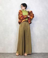 KAKJUS leopard  pattern orange nylon  jacket-984-3