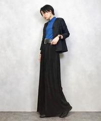 Rose embroidery black china jacket-979-3