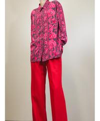 GEFION vivid pink color design long shirt-1514-11