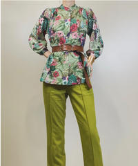 Teddi OF CALIFORNIA botanical flower shirt-1290-7