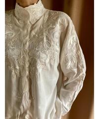 TOGETHERI embroidery design high neck tops-2068-7