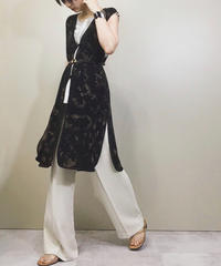 Black shadow china long vest-1118-5