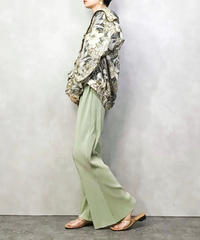 VER botanical flower green silk jacket-1048-4