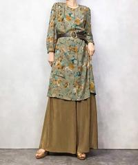 LADIES 13 cocoa brown flower dress-1035-4
