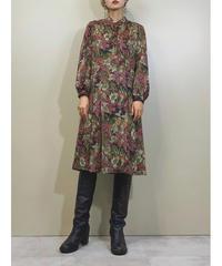 Uno design leaf pattern rétro dress-1413-9