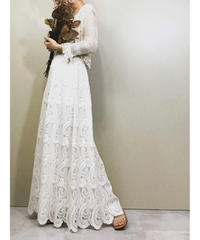Lace fabric vintage wedding dress-1141-5